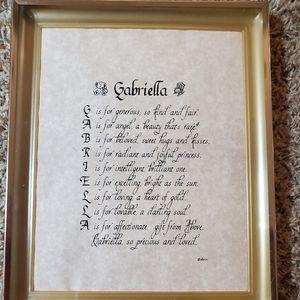 Gabriella frame